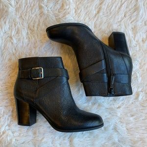 Cole Haan Cassidy Buckle Leather Ankle Bootie